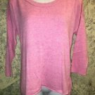 AMERICAN EAGLE fine knit lightweight pink sweater crewneck M slouch top casual