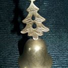 "Brass metal bell 4.5"" high CHRISTmas tree handle ringer vntg decoration India ?"