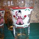 6 Vintage BIG BOY restaurant bakery CHRSITmas snow angel glasses collectible GC