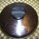 "Small saucepan lid top 5.75"" round stainless steel stay cool handle vintage used"