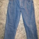 34x32 basic 5 pocket men's boy's regular relaxed fit medium wash boot cut EUC