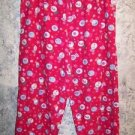 CHRISTmas print lightweight flannel ankle sleep lounge pj pajama bottom pants S