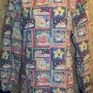 Celestial angels nighttime front snap scrubs top jacket medical uniform vet S