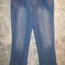 GITANO mid rise boot cut stretch ribbed stripe denim jeans women's plus 16 GUC