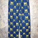 Michigan blue gold boy girl youth medium boxer pajamas bottoms pjs lounge pants