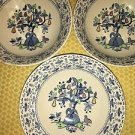3 vntg Johnson Bros ironstone Sugar & Spice pear tree bird coupe bowls England
