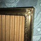 "Vintage gold brass metal photo picture frame 8x10"" scroll corner flocked back"
