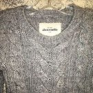 ABERCROMBIE KIDS by HOLLISTER NWT wool alpaca cable knit sweater heather gray S