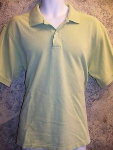 IZOD men's polo shirt sz large pima cotton short sleeve lime green golf casual