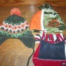 Toddler boy 6-12 months size fleece ear flap tasseled camouflage winter hat cap