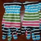 Girl's OLD NAVY size small fleece gloves NWOT colorful stipes warm cozy winter