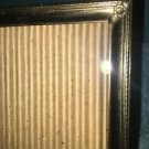Vintage gold brass metal embossed scroll corners photo picture frame easel 5x7