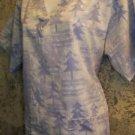 CHRISTmas tree music blue v-neck scrubs top nurse medical uniform M dolman blue