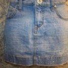 Women sz 2 VANILLA mini skirt denim jean rhinestone embellished school clothes