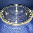 Small vintage PYREX casserole dish 019 clear glass lid 681-C-30 round 2.5 cup