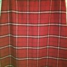 NINE & CO red plaid wool blend lined maxi straight skirt back slit career sz 16