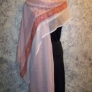 "46x86"" Indian dupatta scarf shawl wrap sheer chiffon fabric orange polka dots"