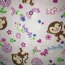 Monkeys flowers cheery v-neck scrubs cheery uniform top nurse dental medical S