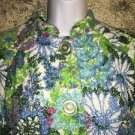 Retro 70s floral towel terry homemade OOAK ? bath bed robe cover-up high collar