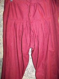 Salwar pleated baggy harem hippie boho drawstring pants light wine paisley swirl