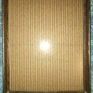 "Vintage gold metal wood grain photo picture frame 8x10"" scrolled corner easel"