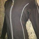 DANSKIN gray water resistant stretch athletic running coat jacket S-M slim fit