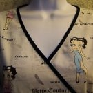 BETTY BOOP Couture fashion style scrubs uniform top dental medical nurse vet M