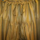 Salwar drawstring trousers India tight scrunched bunched skinny ankle pants gold