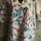 Women size XL scrubs nurse uniform top v-neck pullover abstract design CHEROKEE
