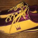 DADA Supreme maroon gold red yellow crown basketball shiny shoes tennis shoes 8