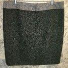 LIZ CLAIBORNE wool blend black gray metallic knee length lined skirt 16 career