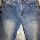 AEROPOSTALE  Driggs men's boy's 27/28 slim bootcut blue jeans skinny worn torn