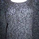 Silk blend dressy black GIANNI stretch modest crewneck sweater woman plus 3X