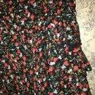 Black floral ruffled mini skirt semi sheer lined TWENTYONE side zipper XS dressy