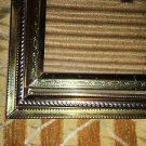 Lot 3 vintage gold brass metal emboss photo picture frames small 2x3 wallet size