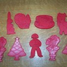 Red vintage cookie cutters Christmas holidays birthday~