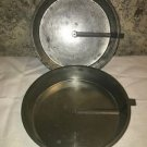 "2 vintage 1.5x8"" aluminum cake pans tins plates slider arm handle easy removal"