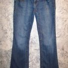 AEROPOSTALE AERO low-rise skinny flare bottom blue jeans women junior 1/2 short