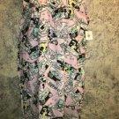 Retro 50s cartoon pink day dress nightgown made U.S.A women M lightweight modest