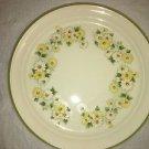 "KELTCRAFT Noritake Daisygarland platter made Ireland 12"" round yellow daisies"