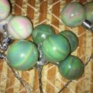 Lot CHRISTmas Easter pearl opalescent pastel bulbs green white wire picks crafts