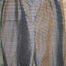 Black white checker silk ankle peddle pusher pants woman RALPH LARUEN 20/22W