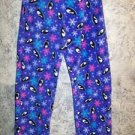 Purple penquin fleece sleep lounge pj pajama bottoms pants women junior L 11/13