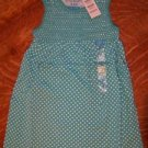 CHILDRENS PLACE girl 5/6 small polka dot spring top NWT jumper turquoise blue