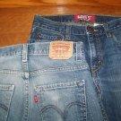 2 Boy's 14 red tag 511 Levi's Skinny denim blue jeans 27x27  cotton 1% spandex