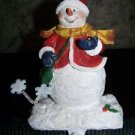 "Heavy CHRISTmas stocking holder snowman lady girl  7"" mantel shelf hanging hook"