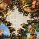 4 HUMMEL GOLD CHRISTmas ornaments 24K finish filigree duck deer swing children