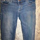 ABERCROMBIE KIDS girls 16S slim medium wash low rise skinny stretch blue jeans