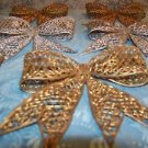 9 vintage rubber plastic gold silver CHRISTmas bows filigree wreath making deco