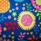 Bright hippie 70s flowers v-neck scrubs uniform top dental medical nurse vet M